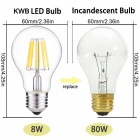 KWB kwb067 8W LED žárovek Warm White (AC 220 ~ 240V / 6ks)