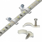 100 Lots Strip Light Supports de fixation + Vis - Blanc + Gris