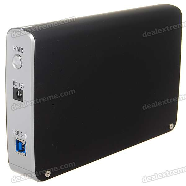 "USB 3.0 2.5""/3.5"" HDD Enclosure - Black (Super-Speed 5Gbps)"
