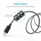 Anker 3ft Nylon Braided USB Cable with Lightning Connector - Silver