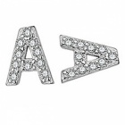Creative Spelling English Alphabet A Stud Earring for Women - Silver