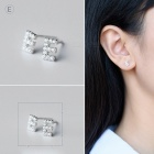 Creative spelling english alphabet e stud earring for women - silver