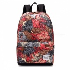 KAUKKO K6002 15L Maple Leaf Pattern Fashion Printing Backpack - Red