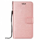 BLCR Elephant Pattern Wallet Case for Samsung Galaxy S7 - Rose Gold