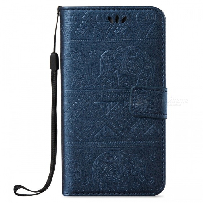 BLCR Elephant Pattern PU + TPU Wallet Case for Samsung Galaxy S7- BlueLeather Cases<br>Form ColorSapphire BlueModelN/AMaterialPU + TPUQuantity1 pieceShade Of ColorBlueCompatible ModelsSamsung Galaxy S7FeaturesAnti-slip,Dust-proof,Shock-proof,Abrasion resistance,Easy-to-remove,Holder functionPacking List1 x Case<br>