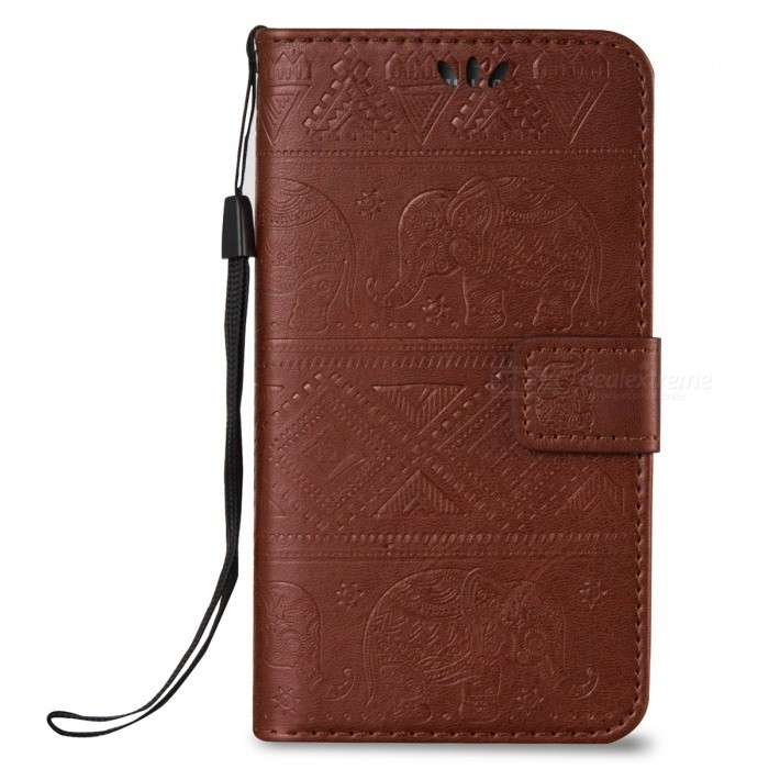 BLCR Elephant Pattern Wallet Case for Samsung Galaxy S7 - BrownLeather Cases<br>Form ColorBrownModelN/AMaterialPU + TPUQuantity1 pieceShade Of ColorBrownCompatible ModelsSamsung Galaxy S7FeaturesAnti-slip,Dust-proof,Shock-proof,Abrasion resistance,Easy-to-remove,Holder functionPacking List1 x Case<br>