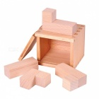 MAIKOU Wooden Building Block Educational Toy - Light brown
