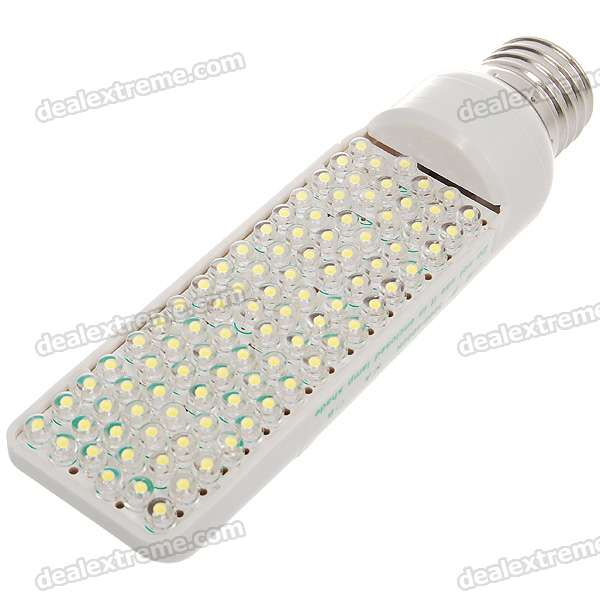 E27 6W 6500K Cold White Light 96-LED Lamp Bulb (DC 12V)