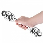 Multifunctional 8-in-1 Chrome Vanadium Steel Ratchet Wrench - Silver