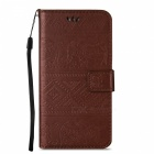 BLCR Elephant Pattern PU Wallet Case for Samsung Galaxy S7 Edge- Brown