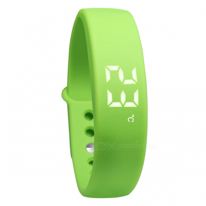DMDG Smart Wrist Watch Wristband Bracelet w/ 3D Pedometer - GreenSmart Bracelets<br>Form  ColorGreenQuantity1 DX.PCM.Model.AttributeModel.UnitMaterialABSShade Of ColorGreenWater-proofNoBluetooth VersionNoTouch Screen TypeOthers,LEDOperating SystemNoCompatible OSNOBattery Capacity210 DX.PCM.Model.AttributeModel.UnitBattery TypeLi-ion batteryStandby Time150 DX.PCM.Model.AttributeModel.UnitPacking List1 x Smart Bracelet 1 x USB Charger 1 x English User Manual<br>