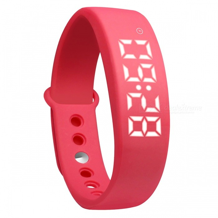 DMDG Smart Wrist Watch Wristband Bracelet w/ 3D Pedometer - RedSmart Bracelets<br>Form  ColorRedQuantity1 DX.PCM.Model.AttributeModel.UnitMaterialABSShade Of ColorRedWater-proofNoBluetooth VersionNoTouch Screen TypeOthers,LEDOperating SystemNoCompatible OSNOBattery Capacity210 DX.PCM.Model.AttributeModel.UnitBattery TypeLi-ion batteryStandby Time150 DX.PCM.Model.AttributeModel.UnitPacking List1 x Smart Bracelet 1 x USB Charger 1 x English User Manual<br>