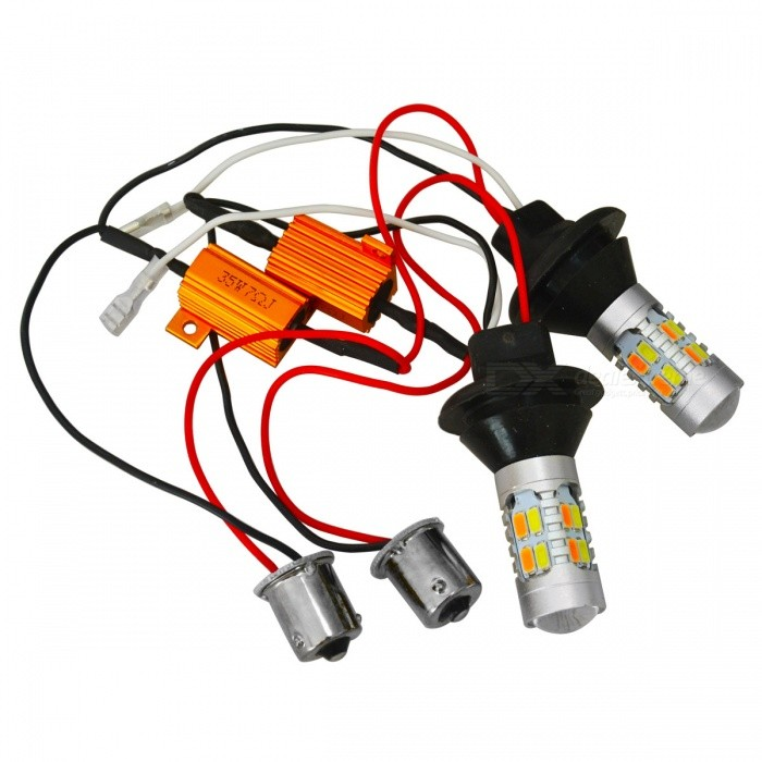 JIAWEN 1156 Car Switchback LED Kit Tourner Signal DRL Ampoules (2 PCS)