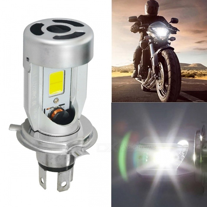 Jiawen 20W 2000lm H4 Plug LED Motorcycle Headlight Bulb (DC 6~60V)Motorcycle Lighting<br>Form  ColorSilverColor BINCold WhiteModelN/AQuantity1 DX.PCM.Model.AttributeModel.UnitMaterialAluminumMakeAllCompatible Car ModelMotorcyclesEmitter TypeCOBTotal Emitters2Chip BrandEpistarPower20 DX.PCM.Model.AttributeModel.UnitRate Voltage6~60VColor Temperature6000~6500 DX.PCM.Model.AttributeModel.UnitLife Span50000 DX.PCM.Model.AttributeModel.UnitTheoretical Lumens2000 DX.PCM.Model.AttributeModel.UnitActual Lumens2000 DX.PCM.Model.AttributeModel.UnitConnector TypeH4Input VoltageDC 6~60 DX.PCM.Model.AttributeModel.UnitRated Working Voltage12 DX.PCM.Model.AttributeModel.UnitApplicationHeadlampWater-proofNoPacking List1 x Led Motorcycle Headlight<br>
