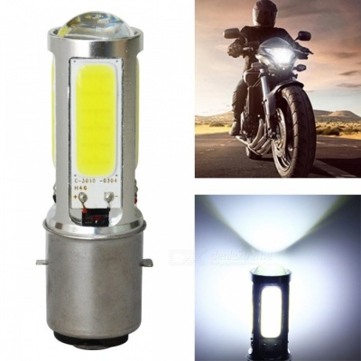 Jiawen Ba20d 7.5W 420lm Cold White LED Motorcycle Headlight Bulb
