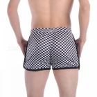 Lattice Flat Angle Casual Men's Underwear - Noir + Blanc (XL)