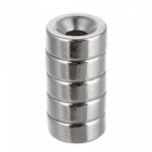 JEDX D15*5-4mm Round NdFeB Magnet Cubes w/ Round Hole - Silver (5PCS)