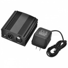 Channel DC 48V Phantom Power Supply with Adapter, XLR Cable (US Plugs)