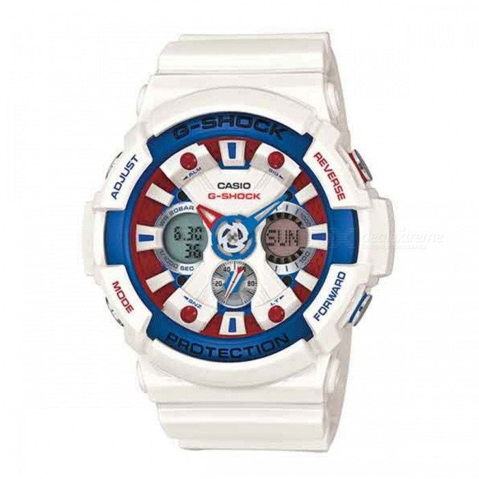 Casio G-Shock GA-201TR-7ADR - White + Blue + Red