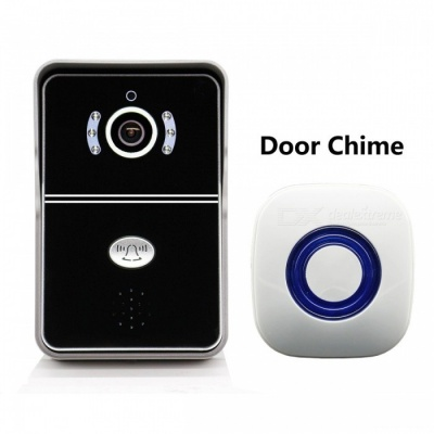 eBELL Smart Wireless Video Doorbell Camera w/ Indoor Chime - Black
