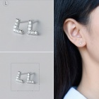 Creative spelling english alphabet l stud earring for women - silver