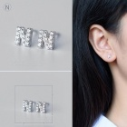 Creative spelling 26 english alphabet studs earring (n-1 pc)