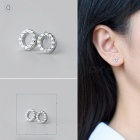 Creative spelling english alphabet o stud earring for women - silver