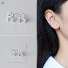 Creative spelling english alphabet r stud earring for women - silver