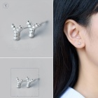 Creative spelling english alphabet y stud earring for women - silver