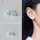Creative spelling english alphabet z stud earring for women - silver