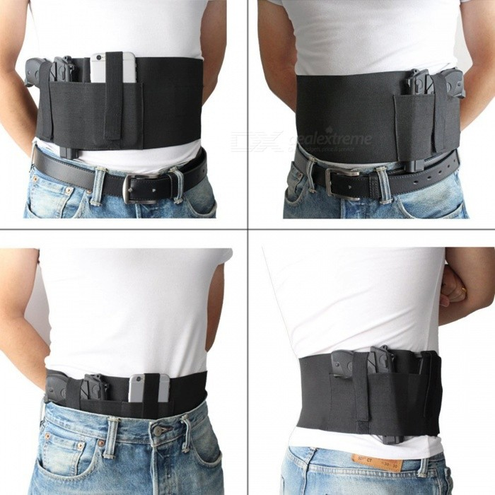 Tactical Adjustable Elastic Belly Band Hoster Waist Pistol Gun Holster