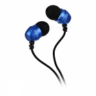 Awei ES-Q8 Metal Subwoofer In-Ear Headphone for Mobile - Black + Blue