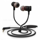 AWEI ES-70TY Heavy Bass HIFI Metal Wired Earphone w/ Mic - Black