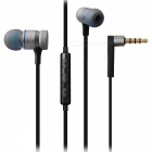 AWEI ES-70TY Heavy Bass HIFI Metal Wired Earphone w/ Mic - Grey