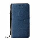 BLCR Elephant Pattern PU + TPU Wallet Case for IPHONE 7 - Sapphire