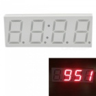 "Eastor DS3231 5V USB 3"" Car LED Display Digital Clock Red Light"