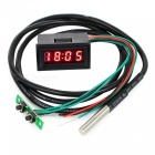 Eastor Blue LED Time / Voltage / Temperature Digital Display Red Light
