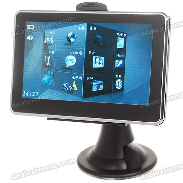 "4.3"" LCD Windows CE 5.0 Core GPS Navigator w/FM Transmitter + 2GB Maps SD"