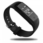 S1 Waterproof IP67 Silicone Heart Rate Smart Wristband - Black