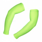 ARSUXEO Elastic Polyester Arm Sleeves - Flourescent Green (M / Pair)