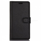 PU Leather Wallet Case w/ Card Slots for Samsung S8 - Black