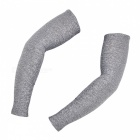 ARSUXEO Elastic Polyester Arm Sleeves - Grey (XXL / Pair)