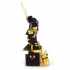 Metal 3D Samurai Puzzle Toy - Golden + Black