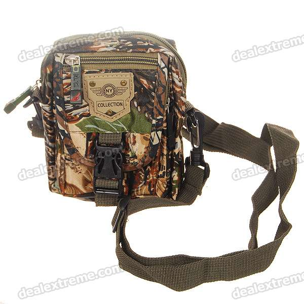 4-Pocket Camouflage Waist Bag stylish camouflage terylene waist bag