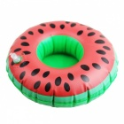 Inflatable Toy Watermelon Coasters Water Float Drinks Cup Holder