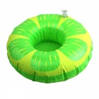 Inflatable Toy Lime Water Swim Ring Coaster Cup Holder - Green +Yellow