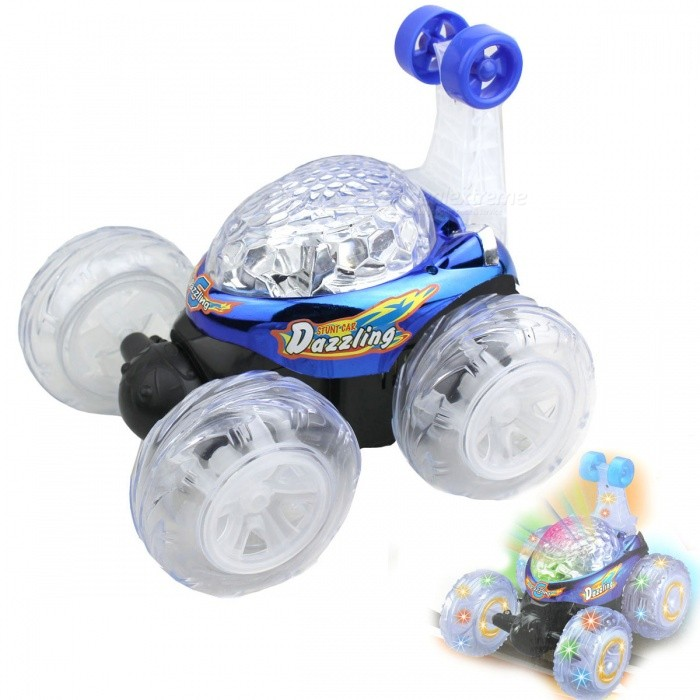 3D Projection Roll Remote Control Stunt Car w/ Music Light
