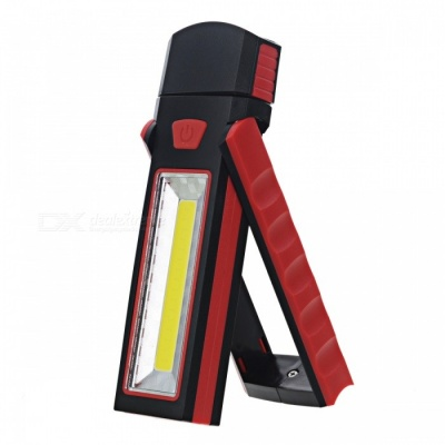Multifunction 2-Mode 3W COB 17-LED Magnet Working Lamp - Black + Red