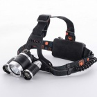 XM-L T6 Long Shots LED Spot Light Aluminum Alloy Headband Lamp - Black