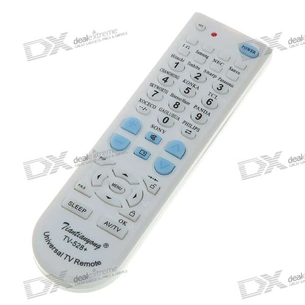 Universal Remote Control for TV Set (2*AA)